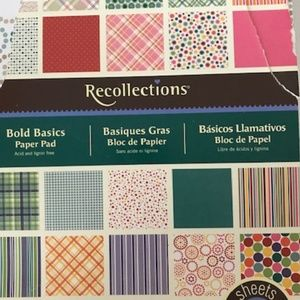 Recollections Bold Basics Paper Pad